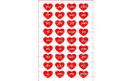 שקף טרנספר 36 סיבות לאהוב אותך אדום  לגבר 461