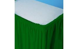 חצאית שולחן צבע ירוק