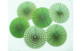 סט 6 טיטוס ירוק לבן