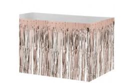 חצאית שולחן פרנזים מטאלי רוז