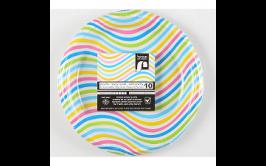 מארז 10 צלחות עמוקות פסים צבעוני
