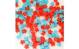 סוכריות כוכבים אדום כחול לעוגת ברצלונה וספיידרמן