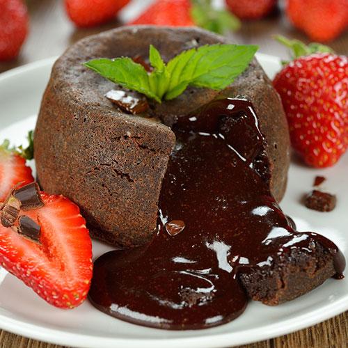 עוגת שוקולד נוזלית